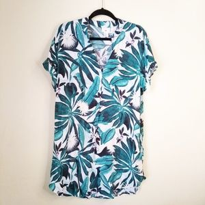 H&M X Anna Glover tropical print dress size 10